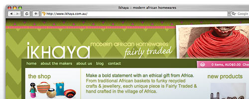 Ikhaya website design