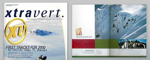 Ski and Snowboard Magazine design
